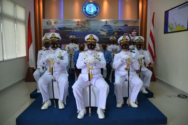 Yeheskiel Katiandagho dan Prajurit Lantamal X Ikuti Upacara Peringatan HUT ke 75 TNI-AL secara Virtual