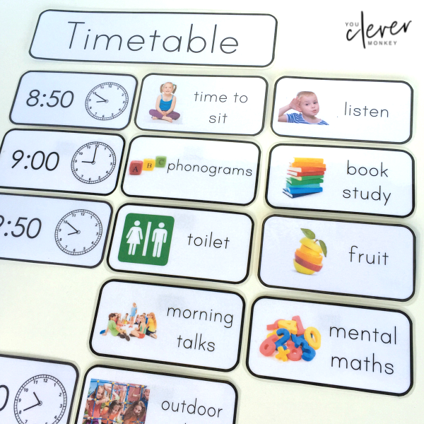 Editable Classroom Visual Timetable Cards   you clever monkey