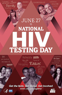 National HIV Testing Day Poster in English