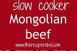 SLOW COOKER} MONGOLIAN BEEF