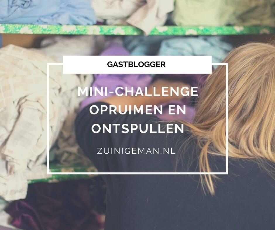 Mini-challenge opruimen en ontspullen