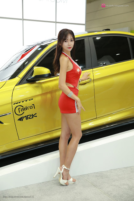 3 Seo Han Bit - Seoul Auto Salon - very cute asian girl-girlcute4u.blogspot.com