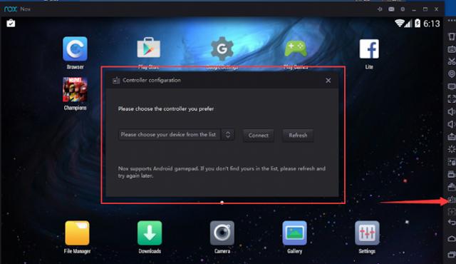 Cara Menggunakan Joystick di Aplikasi Nox App Players