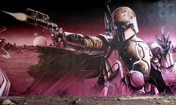 Grafiti atau Lukisan Dinding robot