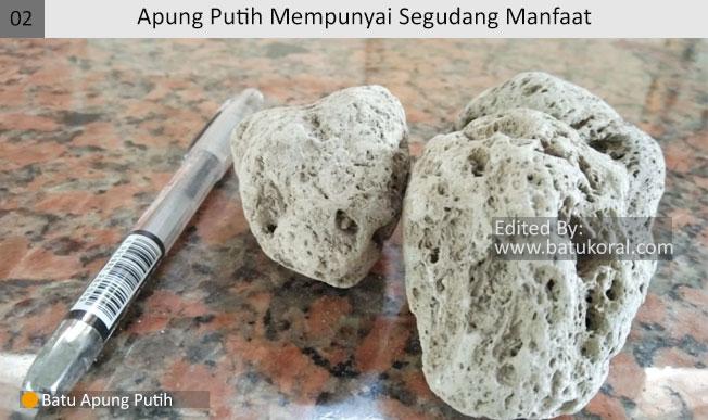 manfaat batu apung putih