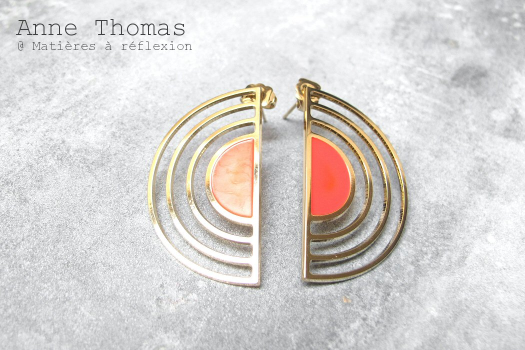 Anne Thomas boucles d'oreille Sunset
