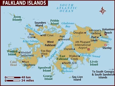 Islas Malvinas Turismo Mapa Paisajes