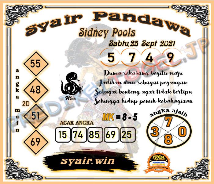 Syair Pandawa Sydney Sabtu 25 September 2021