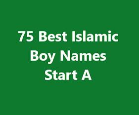 Islamic Boys Name