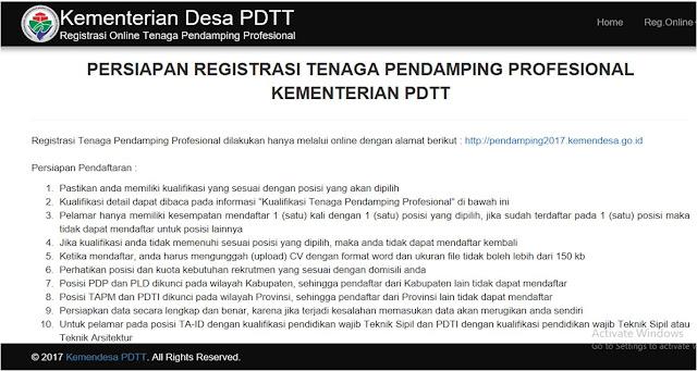 Persyaratan CPNS Kemendesa PDTT 2017