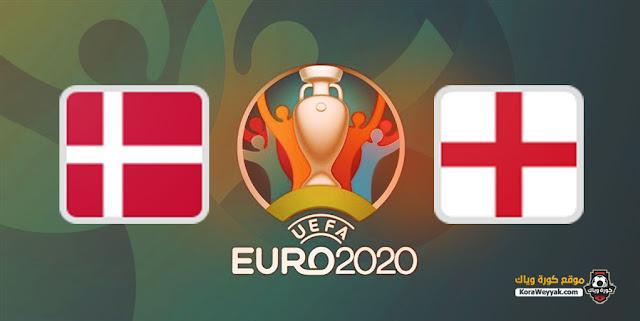 نتيجة مباراة الدنمارك وإنجلترا اليوم 6 يوليو 2021 في يورو 2020