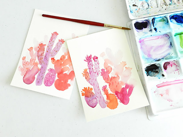 Pink Cactus DIY Art