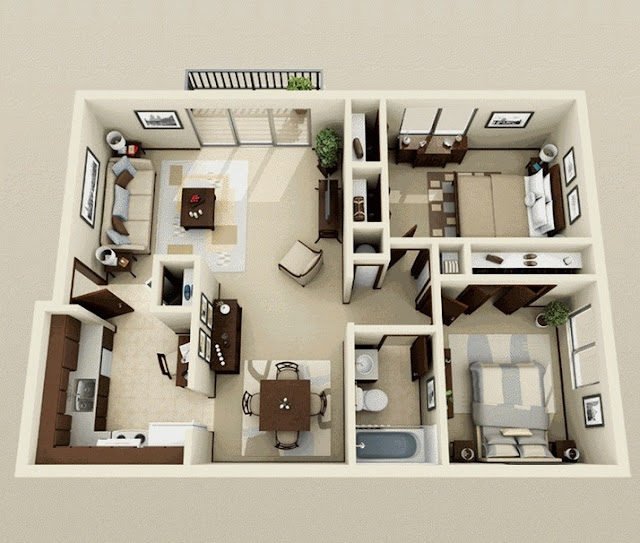 Inspirasi Denah Rumah Minimalis Sederhana