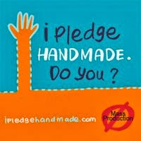 I pledge handmade.  Do You?
