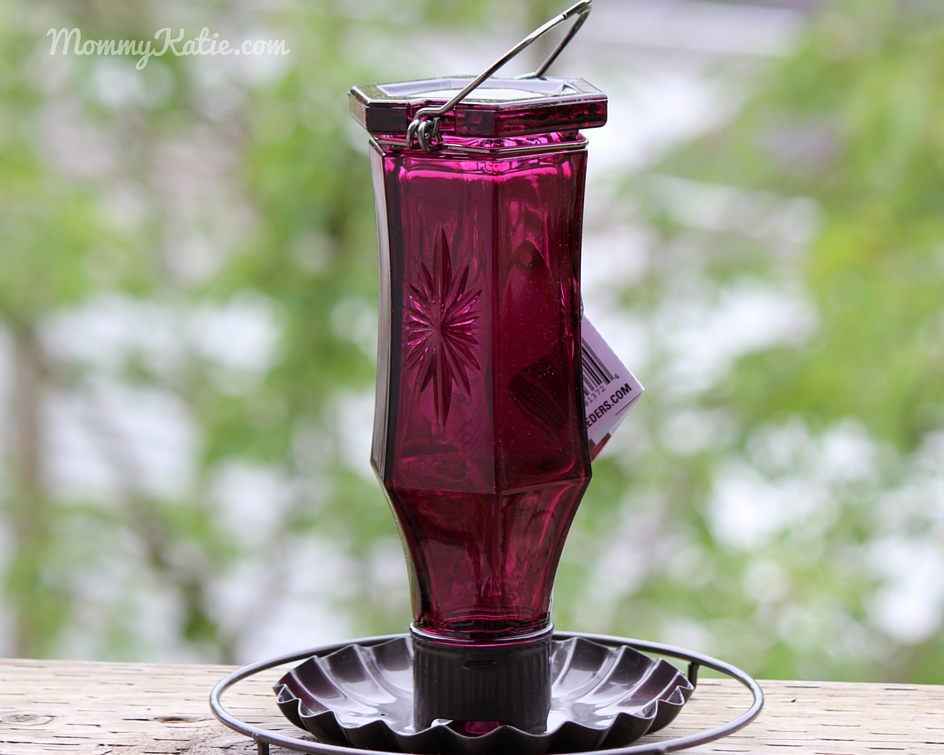 #Giveaway Vintage Glass Bottle Bird Feeders from Perky Pet