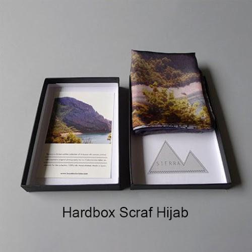 Cetak Hard box Scraf Hijab