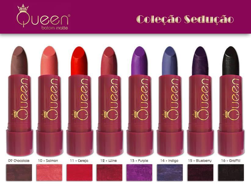 Queen batom matte coleção sedução