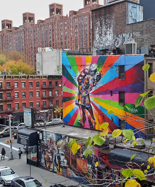 murais do Eduardo Kobra em New York