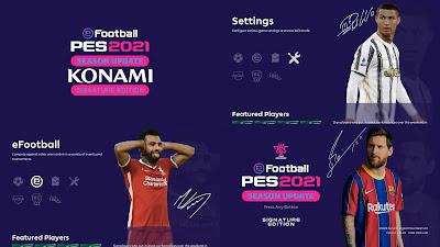PES 2021 Theme Signature Menu Mod by Hawke