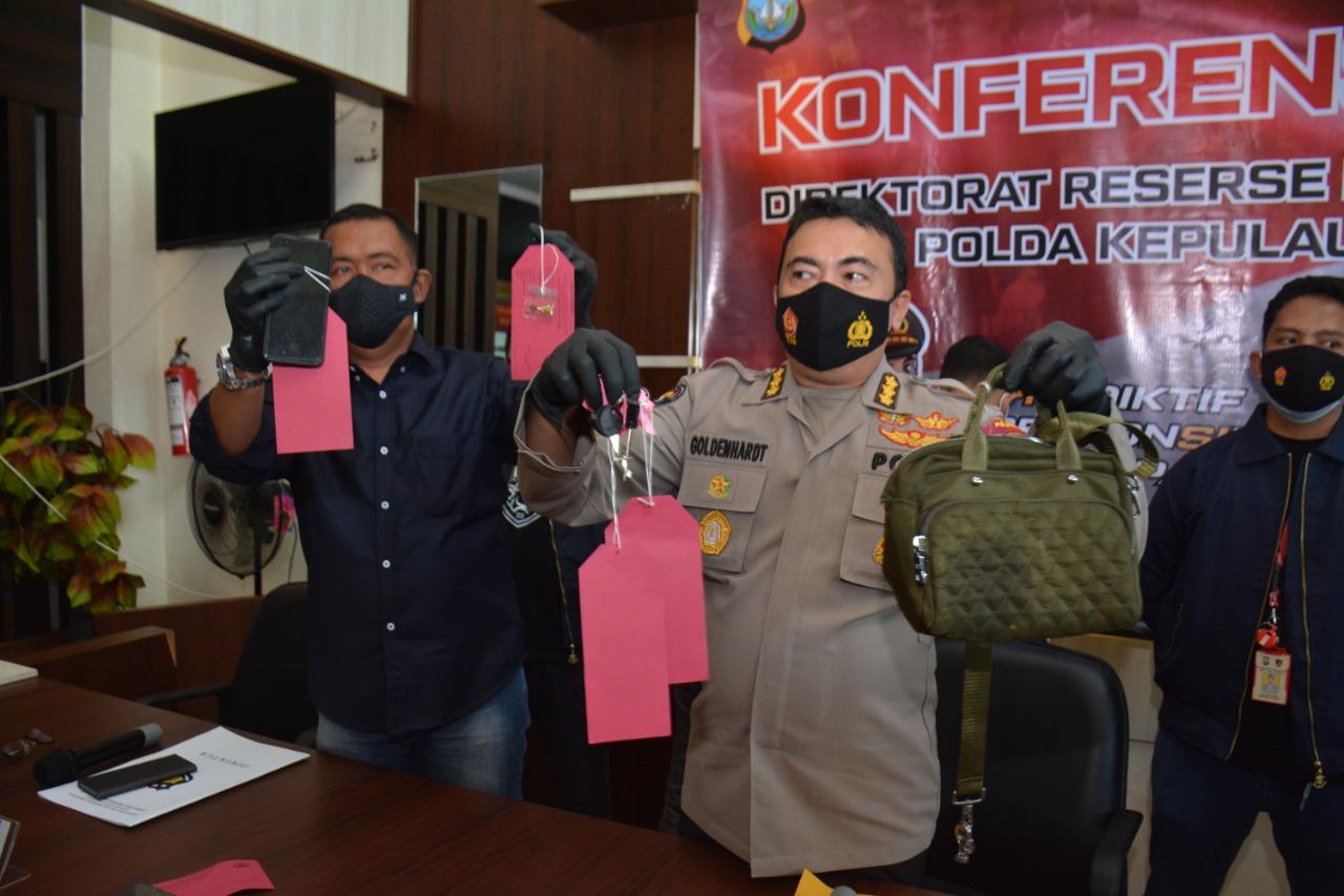 Tim Opsnal Dit Reskrimum Polda Kepri Berhasil Mengamankan Dua Orang Tersangka Tindak Pidana Pencurian Dengan Kekerasan