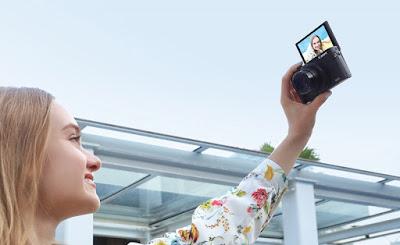 Selfie dengan Canon PowerShot G5 X Mark II