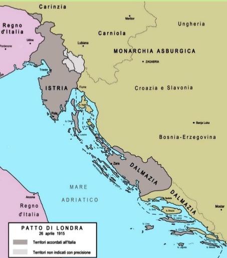 Cartina D Italia 1915.Da Verrazano Serale 12 03 15