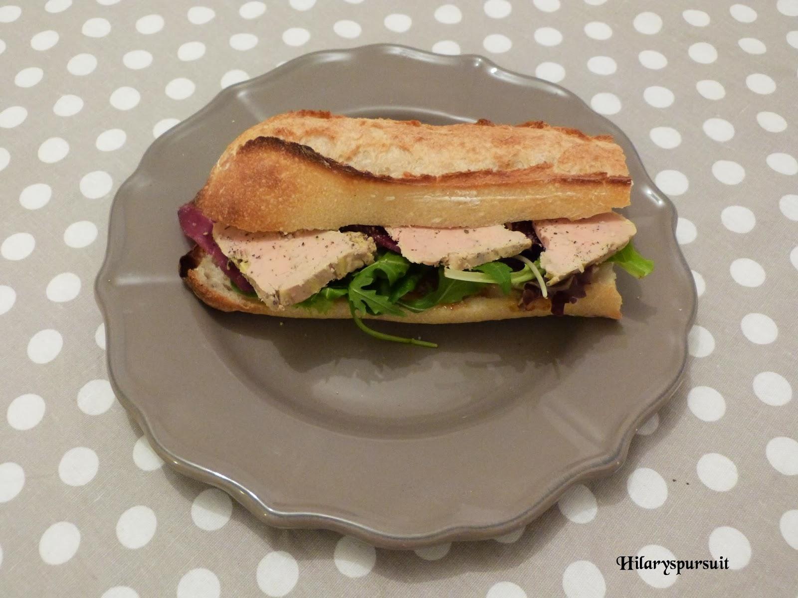 Sandwhich chic au foie gras