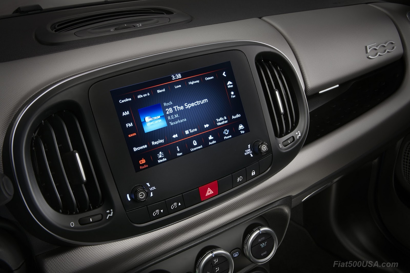 fiat 500l interior automatic. uconnect 4 system standard on all 2018 fiat 500l models and includes a 7inch display apple carplay android auto capability 500l interior automatic l