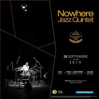 POZ Concierto Nowhere Jazz Quintet en FUGA 2019