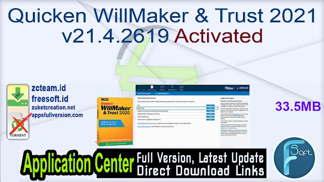 Quicken WillMaker & Trust 2021 v21.4.2619 Activated_ ZcTeam.id