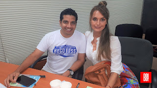 Luis Ceballos y Erika Honstein.