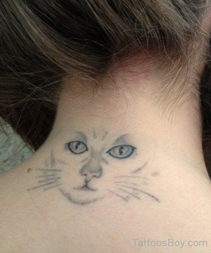 Cat eye Tattoo neck