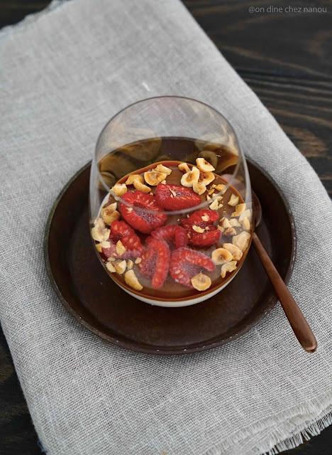 Régilait , noisettes , purée de noisettes , dessert facile