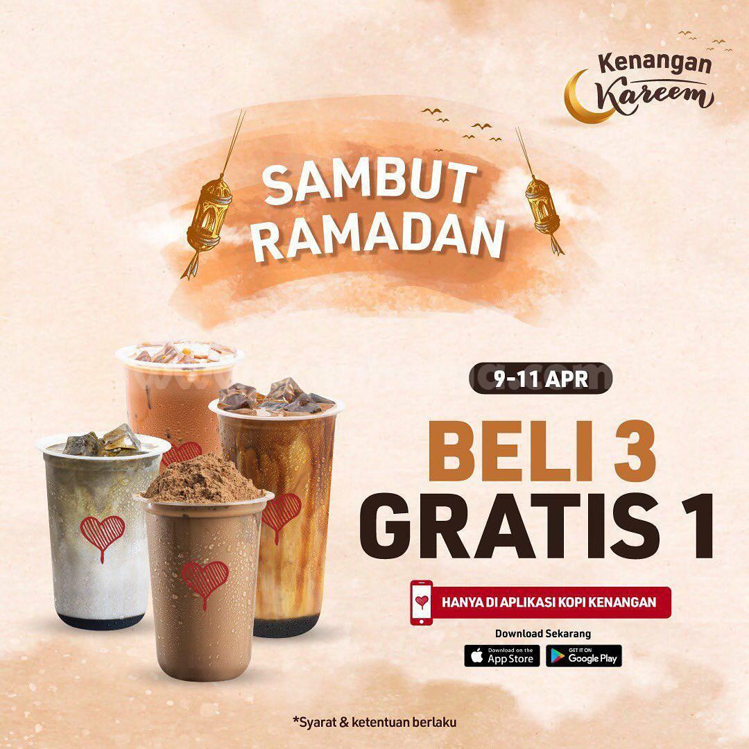 Kopi Kenangan Promo Ramadan - Beli 3 Gratis 1 minuman