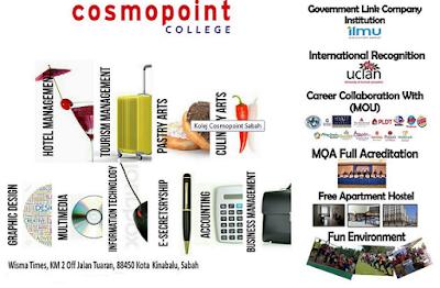 Cosmopoint College Sabah new student intake registration online