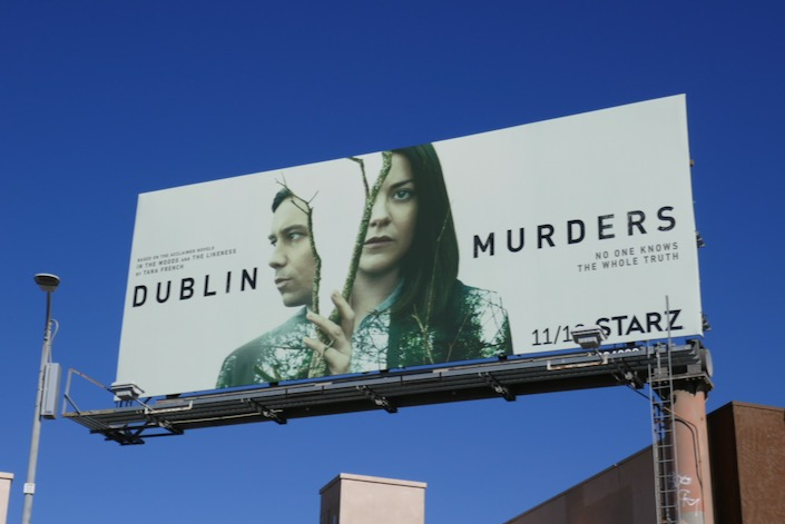 Dublin Murders series launch billboard