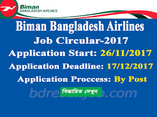 Biman Bangladesh Airlines Junior Operator (GSE) Job Circular 2017