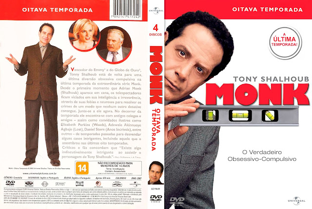 Capa DVD Monk Oitava Temporada [Exclusiva]