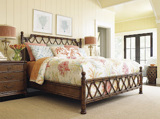 tropical bedroom with Baers Furniture and Tommy Bahama