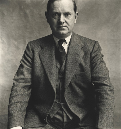 Evelyn Waugh, London, 1950,  by  Irving Penn