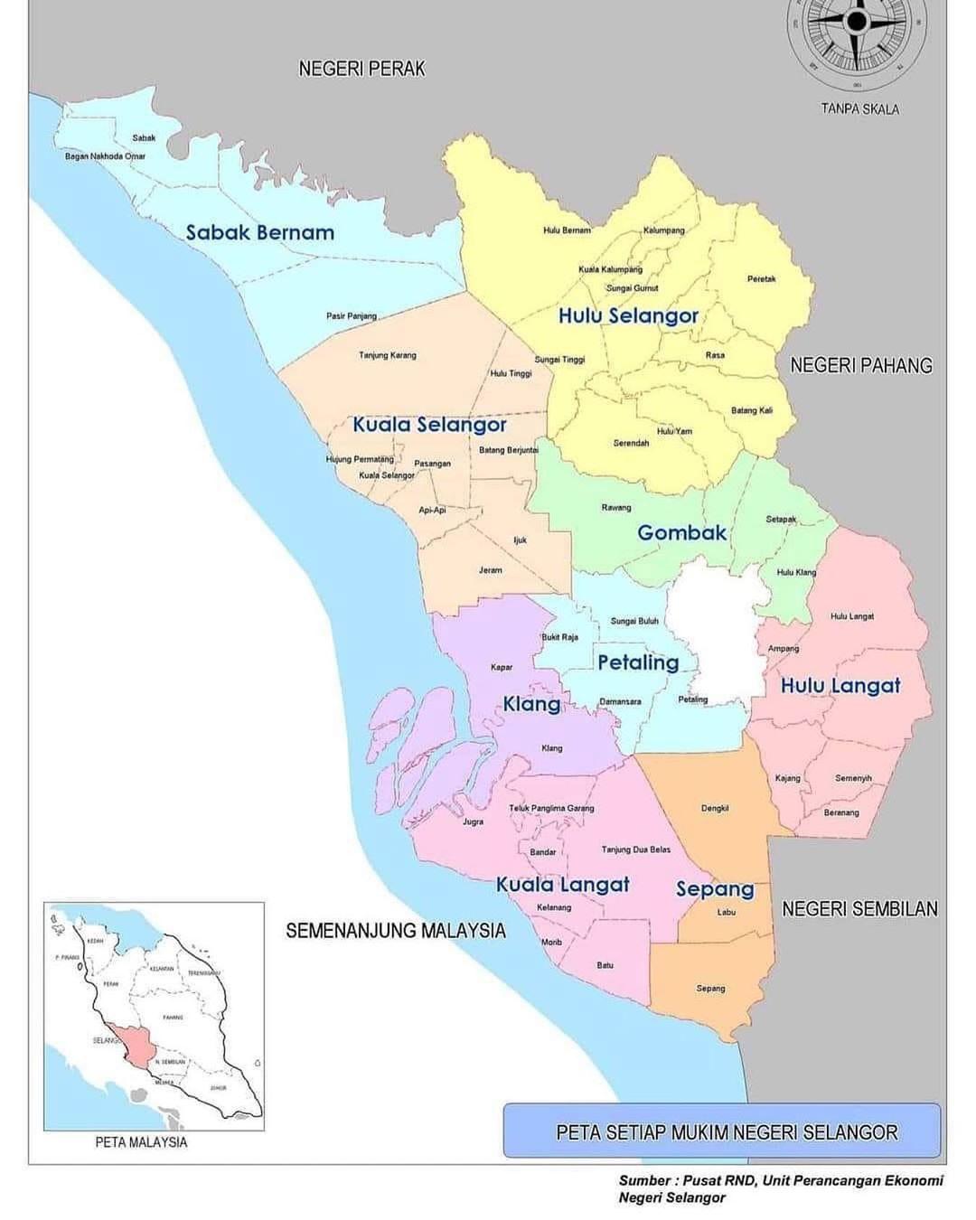 Sempadan Daerah Negeri Selangor - PKPB