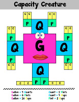 FREE Capacity Creature Anchor Chart Customary Units