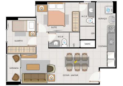 divisão interna de seu apartamento