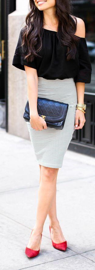 outfit falda lapiz
