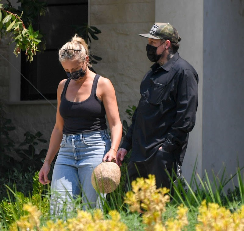 Cameron Diaz and Benji Madden Clicked Outside in Los Angeles 23 Aug -2020