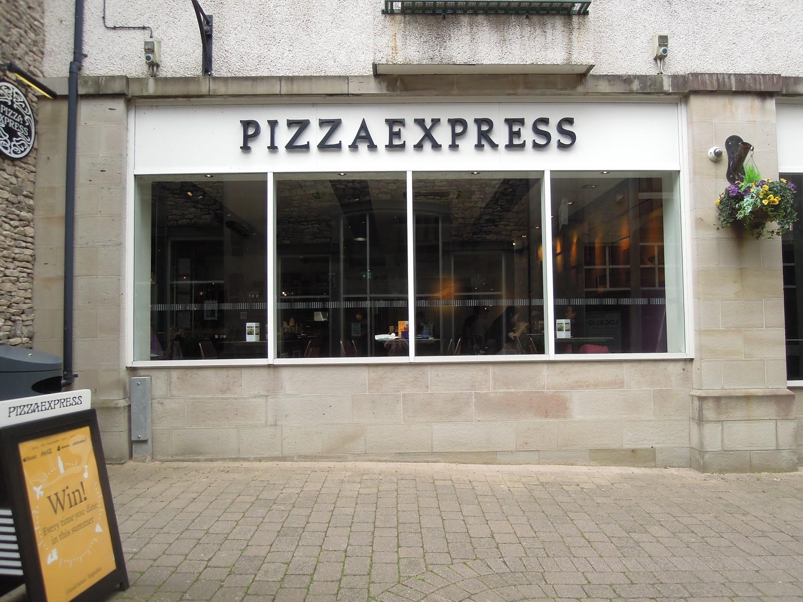老江雜貨店 英國湖區kendal Pizza Express義式料理美味保證