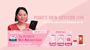 Pond's Skin Advisor Live helps you pick the right skincare products on Shopee
