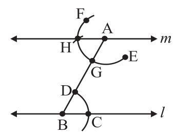 Construction of a line parallel to a given line