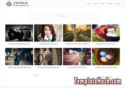 fotolia responsive blogger template