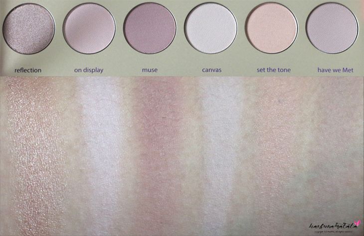 Tarte Tarteist Paint Palette Collector's Set Swatches Row 1